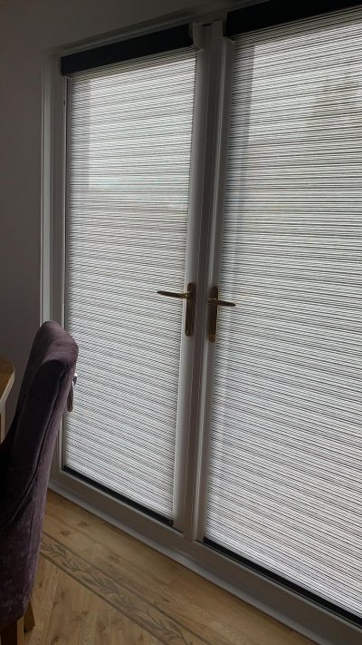 Senses Roller Blinds fitted onto french doors in Ayrshire