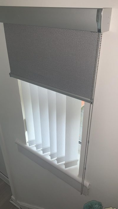 Roller and Vertical Blind fitted in Ayrshire