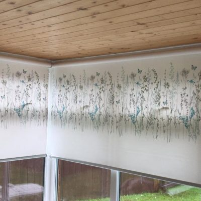 Garden Room Roller Blinds fitted in Ayrshire
