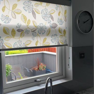 Kitchen roller blind fitted in Ayrshire