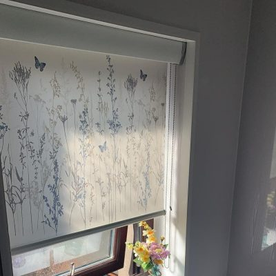 Roller Blind with fascia pelmet fitted in Ayrshire