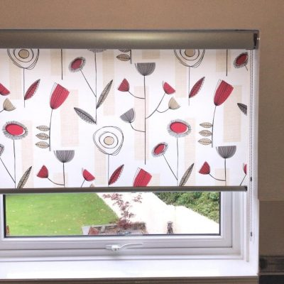 Roller Blind with senses pelmet fitted in Ayrshire