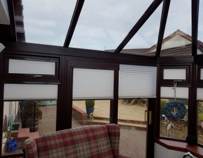 Intu Pleated Blinds Fitted in Ayrshire Conservatory