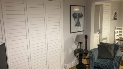 White plantation shutters fitted in Ayrshire